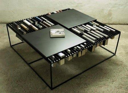 vừa là bàn đọc vừa là nơi phân loại sách