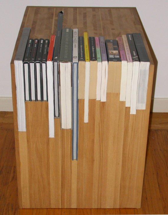 Sách và kệ sách hoà làm một khối