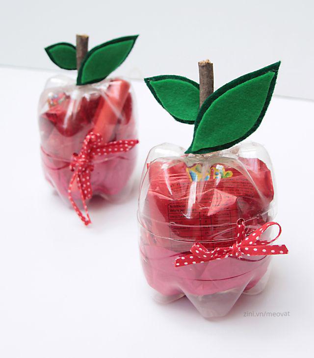 Tận dụng làm hộp đựng đồ hình trái cây