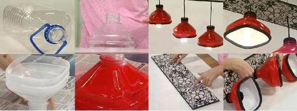 Tận dụng làm những chụp đèn trong nhà
