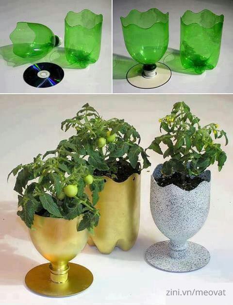 Tận dụng làm bồn trồng hoa
