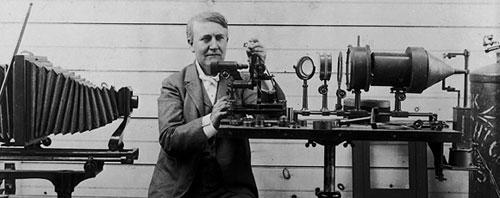 Hình ảnh nhà phát minh Thomas Edison (1847-1931)