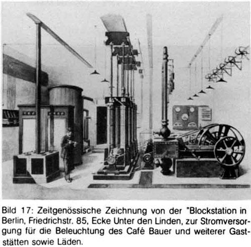 Hình ảnh một nhà máy của công ty điện lực Berliner Elektrizitäts-Werke