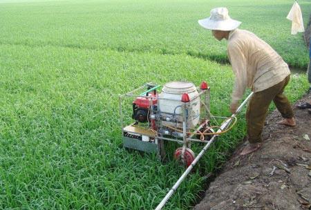 Anh Tuấn đang hướng tới sản xuất những chiếc máy có công suất lớn hơn để phục vụ cho cánh đồng mẫu lớn.
