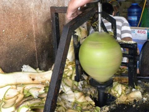 Máy gọt dừa của anh Lê Tân Kỳ