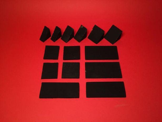Phần ke chịu lực ( làm bằng gỗ ):  Ke lớn: 1,5cm x 2,5cm x 2,5cm) - 2 cái. Ke trung: 2cm x 2,5cm x 2,5cm - 2 cái. Ke nhỏ: 3cm x 2,5cm x 2,5cm - 2 cái. Ảnh: http://www.instructables.com
