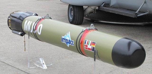 Sigma 9814 sẽ được trang bị với vũ khí hiện đại ngư lôi EuroTorp MU90 Impact