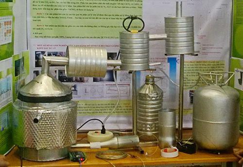 Mô hình đã đạt giải ba tại Cuộc thi sáng tạo khoa học kỹ thuật toàn quốc.