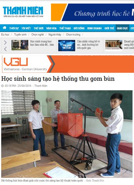 Bài đăng ở báo Thanh Niên