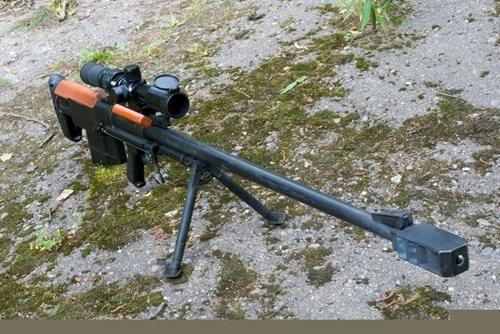 Súng sử dụng hộp tiếp đạn 5 viên cỡ 12,7x108mm. Súng có chiều dài tổng thể 1,35 mét, nòng súng dài 1 mét, trọng lượng 12,5 kg.