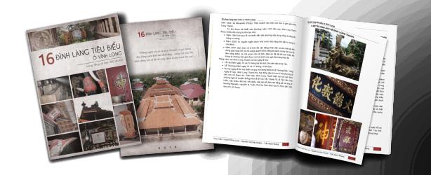Sách in của 16 đình làng tiêu biểu của nhóm thực hiện.
